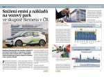 Snížení emisí a nákladů na vozový park ve skupině Siemens v ČR